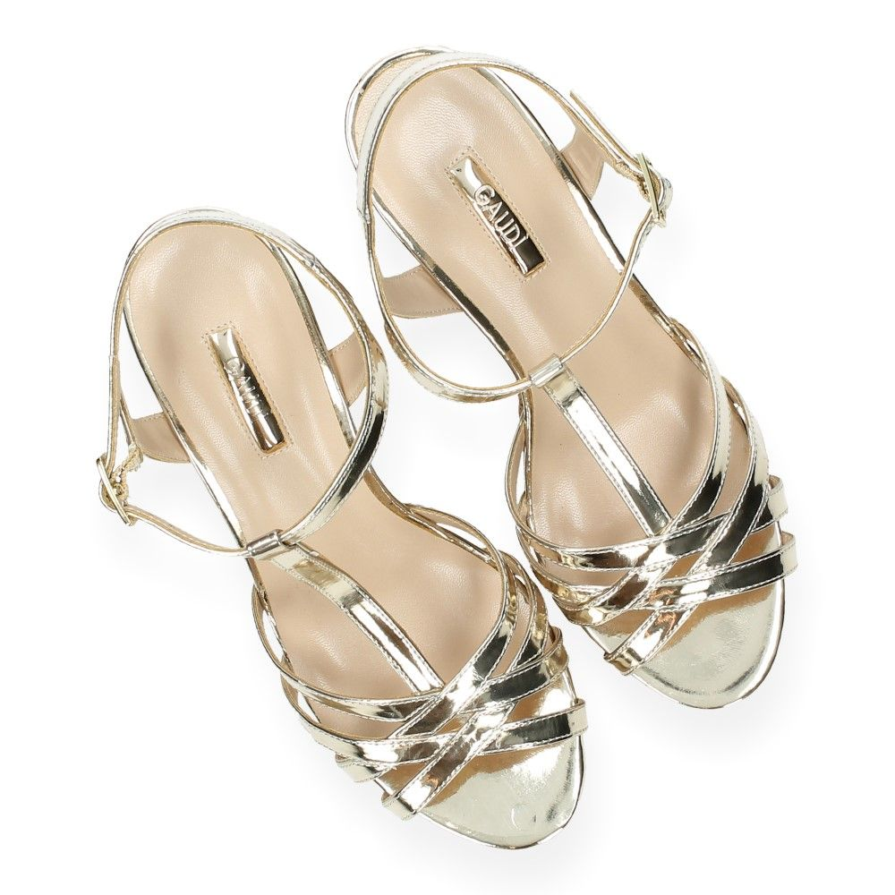 Van Sandalen Met Gouden Platinum Sleehak Gaudi H2WeEDY9I