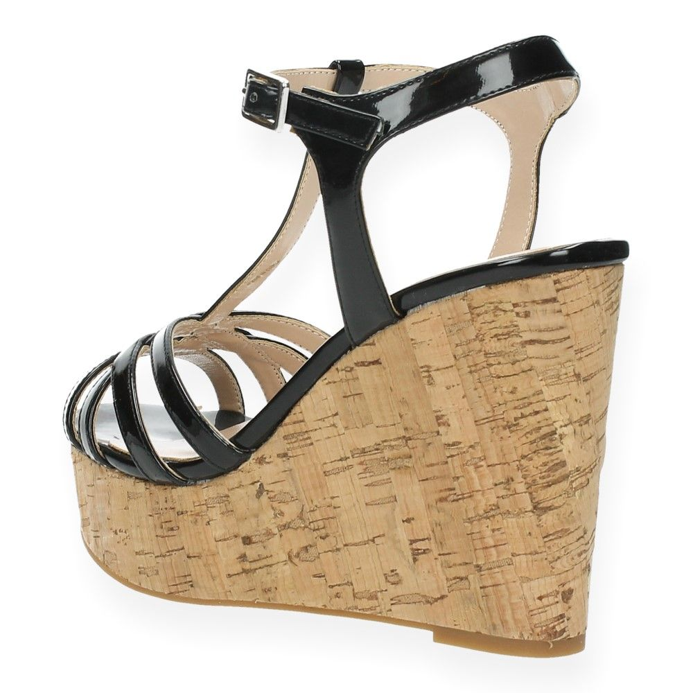 Zwarte Gaudi Sandalen Met Van Zwart Sleehak zMUVqSp