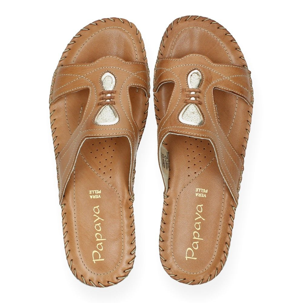 Slippers Cognac Cognac Slippers Van Cognac Papaya Van Papaya 34AL5jcRq