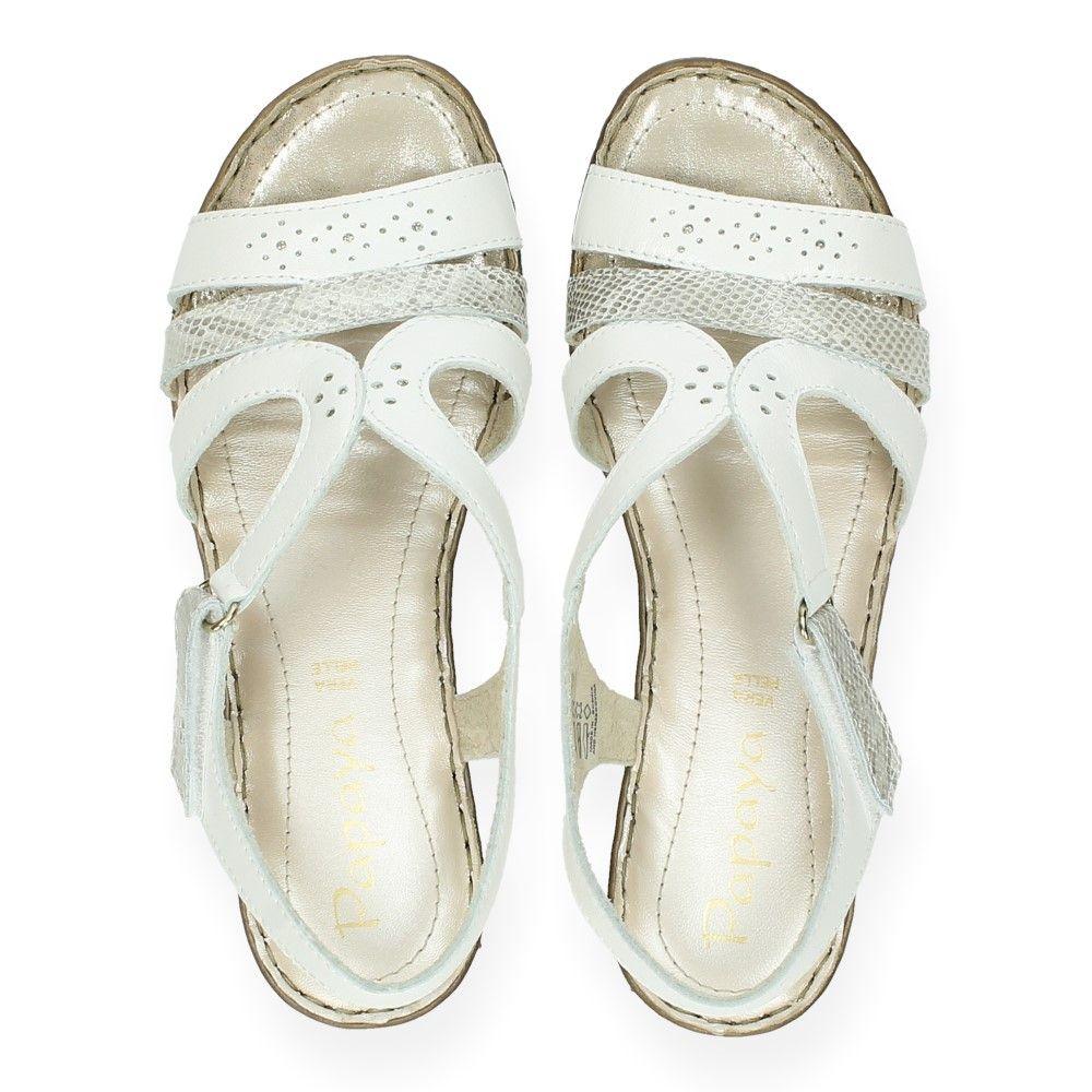 Papaya Witte Witte Sandalen Sandalen Van Wit BQthCsrdx