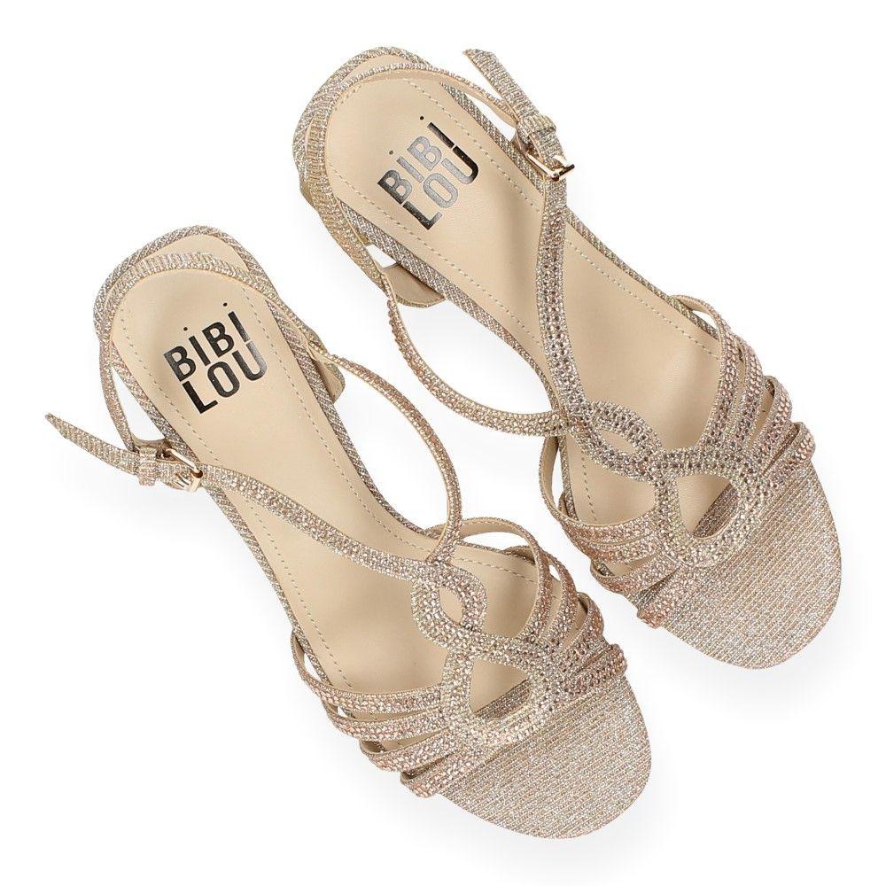 Hak Bibi Van Brons Glitter Met Lou Sandalen 3R5Lq4Aj
