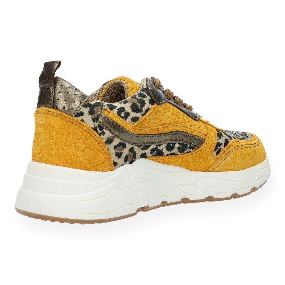 Ice Van Hot Luipaardprint Sneakers Geel OkPXiuZT