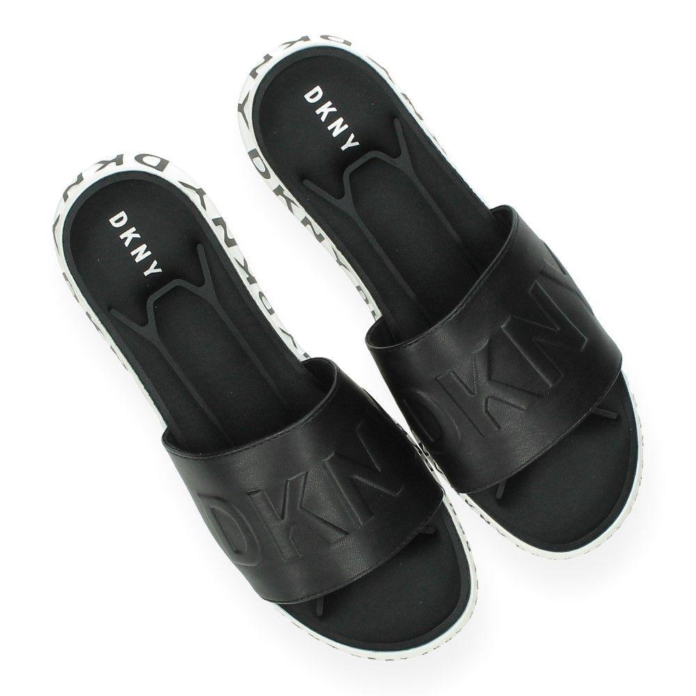 Van Zwart Zwarte Slippers Zwarte Dkny SzMpqVU