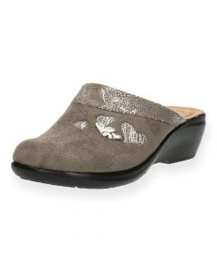 Taupe pantoffels Fly Flot