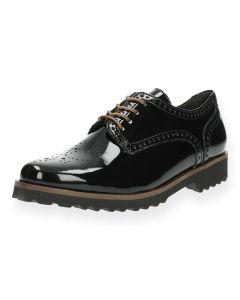 Zwarte veterschoenen Gabor