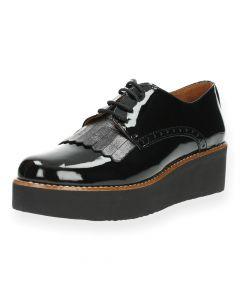 Zwarte veterschoenen Hee