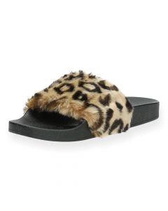 Luipaard slippers Steve Madden