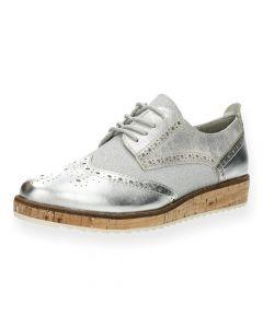 Zilveren veterschoenen