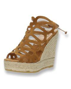 Bruine sandalen met sleehak