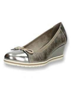 Bronzen pumps met sleehak