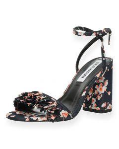 Sandalen bloemenmotief met hak