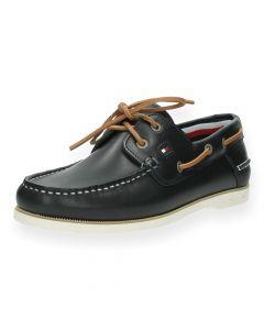 Blauwe bootschoenen