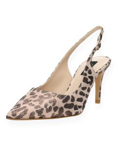 Luipaardprint pumps