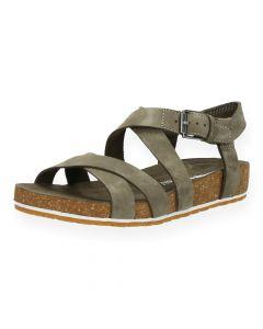 Kaki sandalen