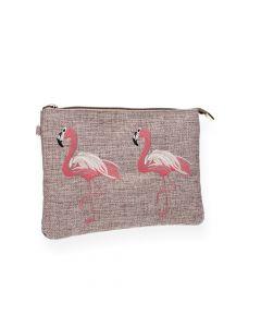 Flamingo clutch