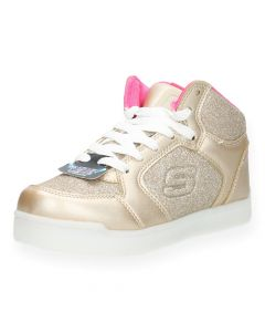 Gouden sneakers met lichtjes