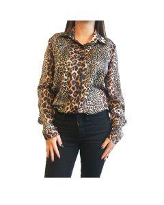 Luipaardprint blouse